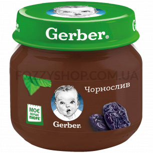 Пюре Гербер чернослив 80г