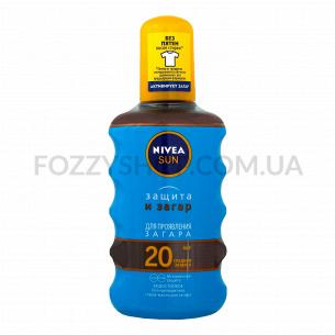 Масло-спрей Nivea Защита и загар SPF20