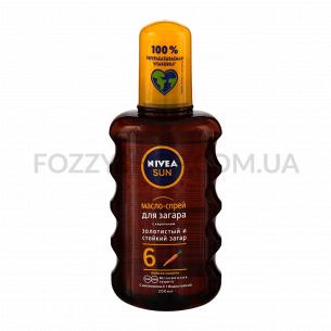 Масло-спрей для загара Nivea увлажняющее SPF6