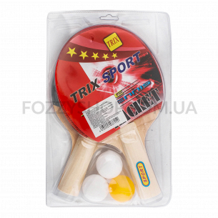 Набор настольного тенниса: 2 ракетки и 3 мячика