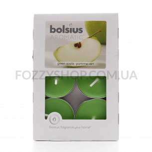 Набор свечей чайных Bolsius Зеленое яблоко арома 6шт