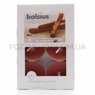 Набор свечей чайных Bolsius Корица арома 6шт