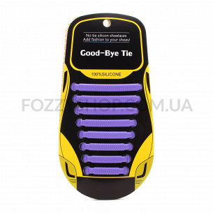 Набір Шнурки для взуття силіконові 8шт в асортименті