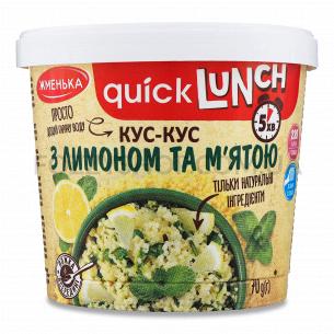 Кус-кус Жменька Quick Lunch с лимоном и мятой 70г