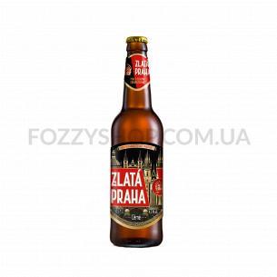 Пиво Zlata Praha темное 4,3%
