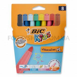 Фломастери BIC Visacolor XL Kids 8 кольорів