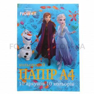 Бумага цветная Тетрада Disney А4 10 цветов