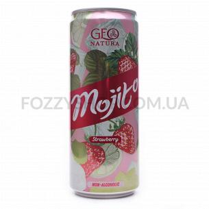 Напиток Geo Natura Мохито с клубникой ж/б