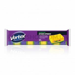 Губка Vortex кухонная 10 шт