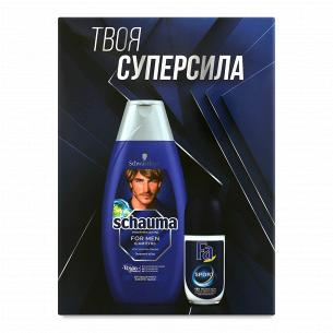 Набор для мужчин Schauma&Fa Sport: шампунь 400 мл + антиперспирант-ролик 50 мл