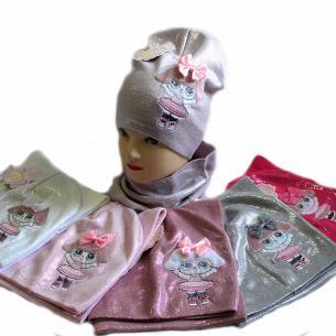 Комплект для дівчинки Kraft + шапка + хомут весна 2085