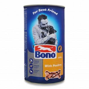 Корм для собак Bono кусочки с птицей