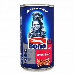Корм для собак Bono шматочки з яловичиною