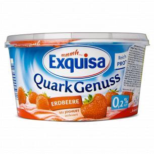 Десерт творожный Exquisa с клубникой 0,2%