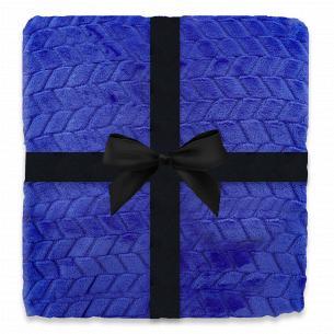 Плед флисовый синий 200x220см