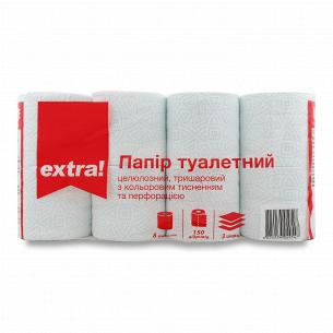 Бумага туалетная Extra! с...