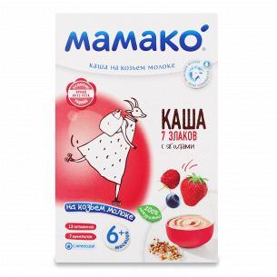Каша 7 злаков Мамако на козьем молоке с ягодами