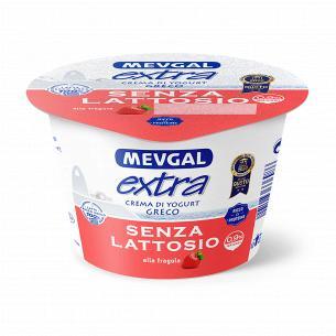 Йогурт Mevgal Греческий с клубникой 0,9% безлактозный