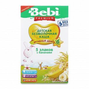 Каша 5 злаків Bebi Premium безмолочна з бананом