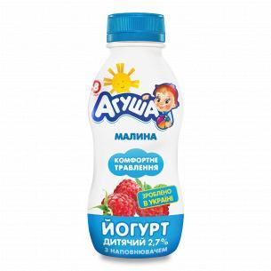 Йогурт Агуша дитячий малина...
