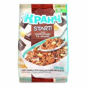 Гранола Start зі смаком шоколаду і арахісом