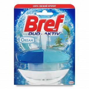 Блок туалетный Bref Duo Active Океан гелевый с корзинкой