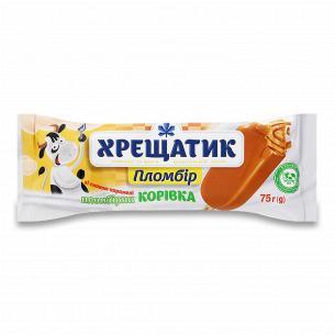 Морозиво Хрещатик Пломбірна корівка карамель 12%