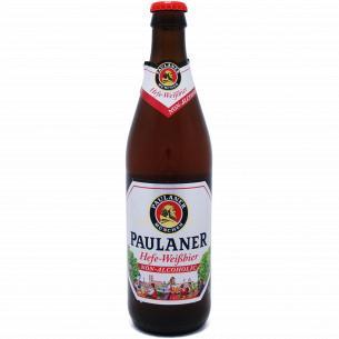 Пиво Paulaner нефильтрованное безалкогольное