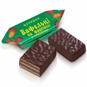 """Конфеты """"Бісквіт-Шоколад"""" Вафельные на фруктозе с арахис"""
