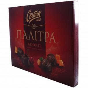 "Конфеты ""Світоч"" Палитра Ассорти молочный шоколад"