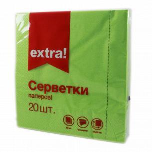 Салфетки бумажные Extra! зеленые