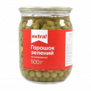 Горошек Extra! зеленый с мозговых сортов стекло