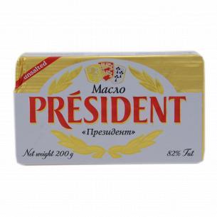 Масло President кислосливочное 82%
