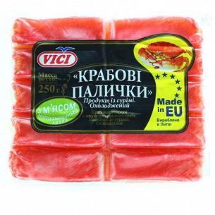 Палочки крабовые VICI с мясом натурального краба