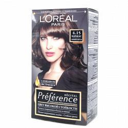 Краска для волос  L`Oreal RECITAL Preference тон 4.15