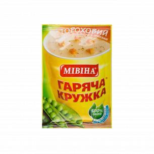 """Суп """"Гаряча кружка"""" Гороховый с беконом и гренками"""
