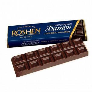 Батончик Roshen молочно-шокол с начинкой крем-брюле