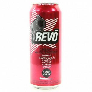 Напиток энергетический Revo вишня слабоалкогольный ж/б