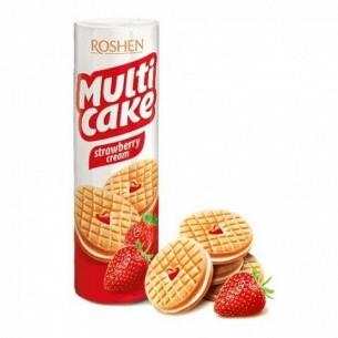 Печенье Roshen Multicake клубника крем