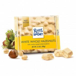 Шоколад белый Ritter Sport с цельными лесным орехами