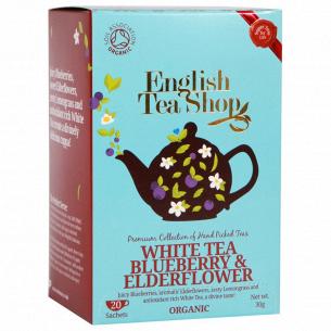Чай белый Tea of Life English Tea Shop c цветами бузины и черники