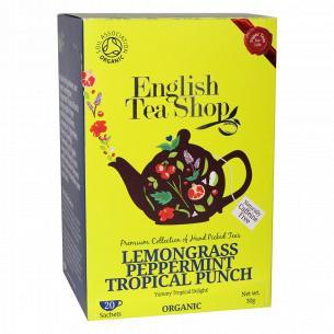 Чай травяной English Tea Shop лемонграсс, мята и тропический пунш