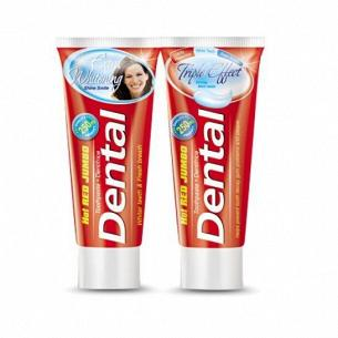 Паста зубная Dental Hot Red Jumbo тройной эффект