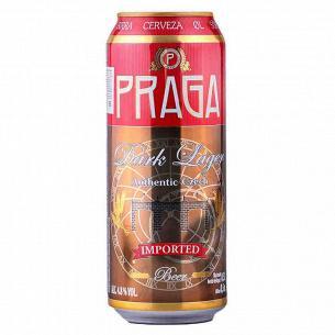 Пиво Praga темное ж/б