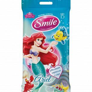 Салфетки влажные Smile Герои Disney Принцессы