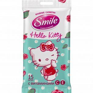 Салфетки влажные Smile Hello Kitty
