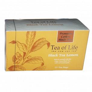 Чай черный Tea of Life с цедрой лимона