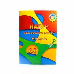 Бумага цветная Тетрада А4 14 листов