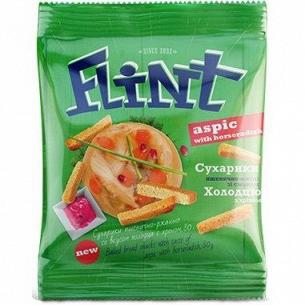 Сухарики Flint со вкусом холодца и хрена