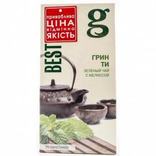 Чай зеленый Gr@ce! с мелисой с ярлыком